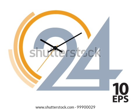 Clock face. Vector illustration
