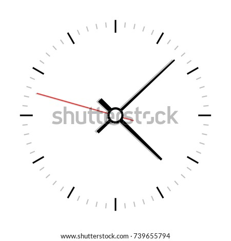 Clock face vector illustration on white background