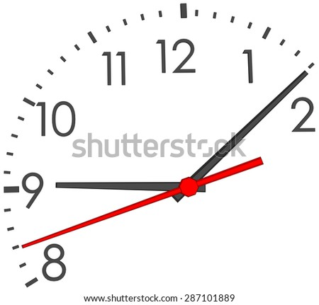 clock face with numbers on