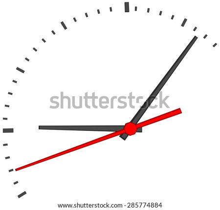 clock face without numbers on