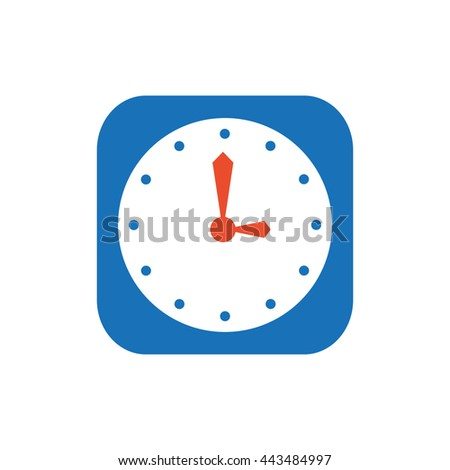 clock  flat icon and logo