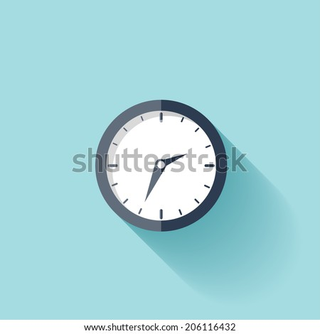 clock flat icon world time