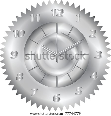 Clock Gear Metal