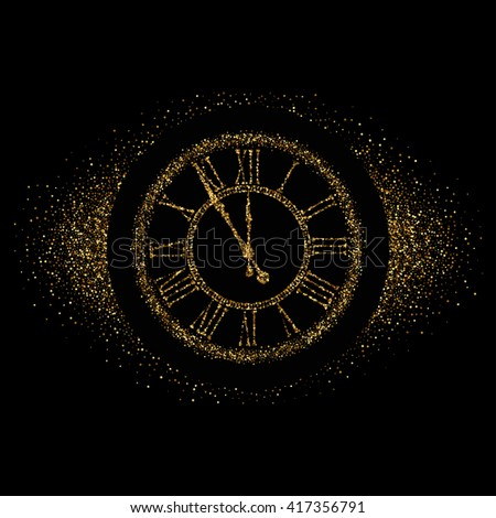 clock gold vector