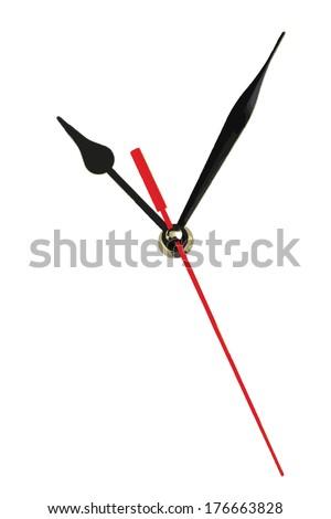 Clock hands (vector). Copy space