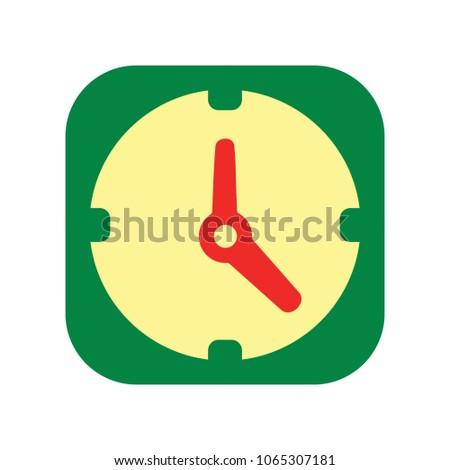 Clock icon - Clock symbol, vector alarm - Clock alarm isolated