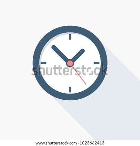 clock icon flat design