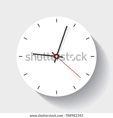 clock icon in flat style