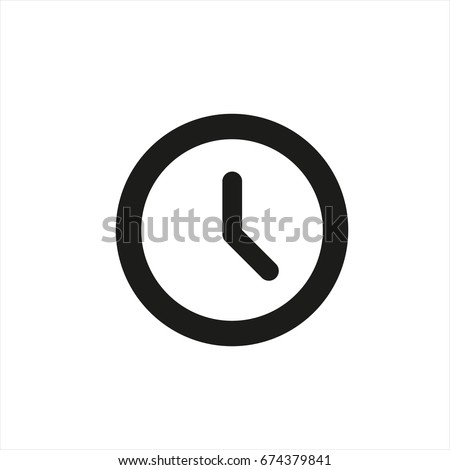 clock icon in trendy flat style
