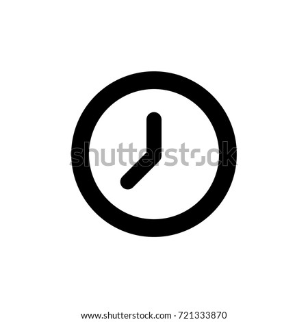 Clock icon in trendy flat style isolated on background. Clock icon page symbol for your web site design Clock icon logo, app, UI. Clock icon Vector illustration,