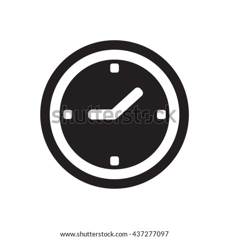 clock   icon   isolated flat
