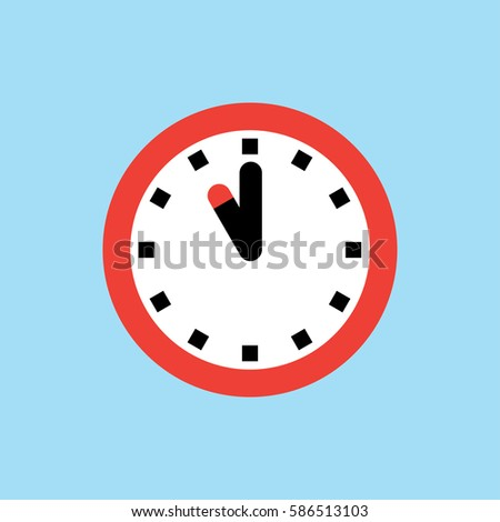 clock icon  11 o'clock vector