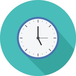 clock icon on a white background