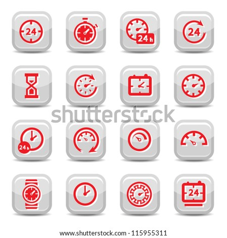 Clock Icon Set for web and mobile. All elements are grouped.