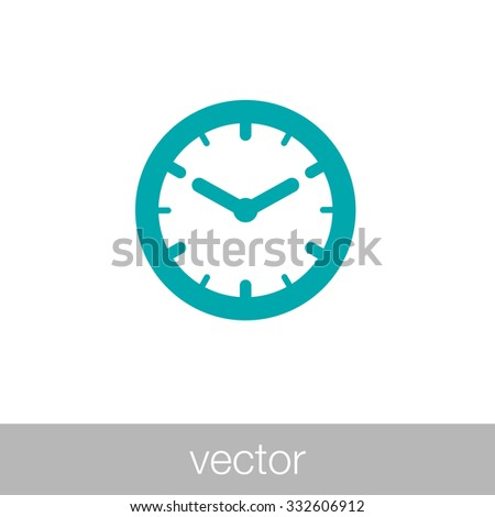 clock icon time icon concept