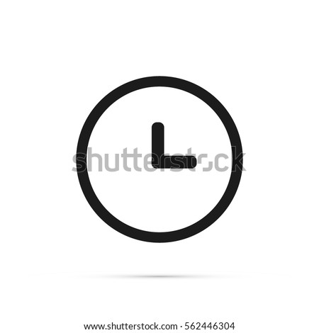 clock icon time icon vector