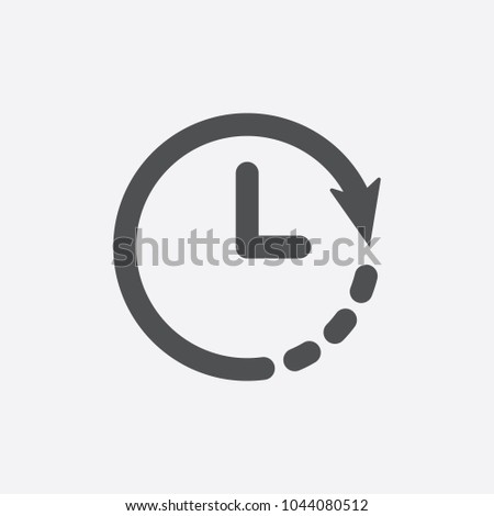 Clock icon. Timer icon. Countdown, deadline, schedule, planning symbol. Icon, clock, timer, time, hour, change, deadline, 24, back, business, circle
