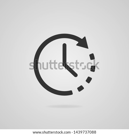 Clock icon. Timer icon. Countdown, deadline, schedule, planning symbol. Vector icon.