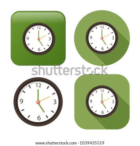 clock icon - vector clock symbol