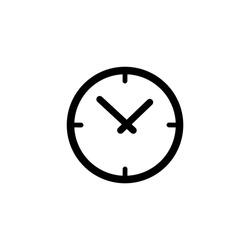 Clock icon vector. Time icon symbol illustration