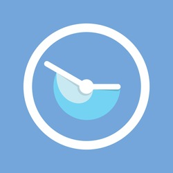 clock icon. watch icon. trendy, minimalist, and modern icon. flat icon. isolated