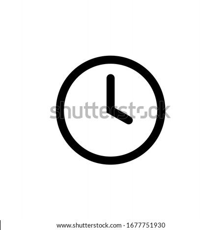 Clock icon. Watch, time icon vector illustration