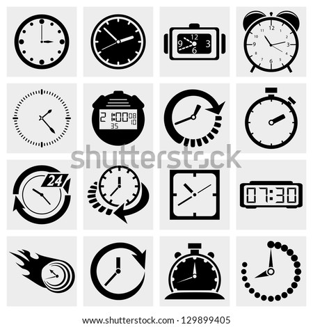Clock icons.Time icons set.