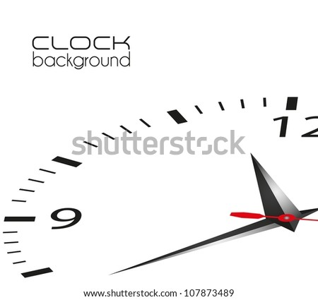 clock illustration isolated on white background, vector illustration