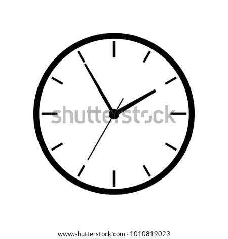 Clock Illustration. Vector.