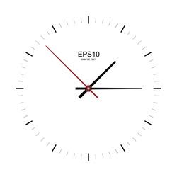 Clock image on white background - Vector illustration