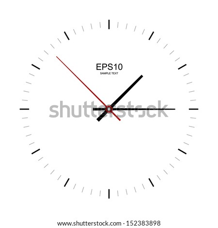 Clock image on white background - Vector illustration
