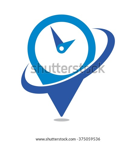 clock logo vector