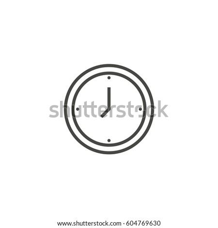 clock outline icon vector