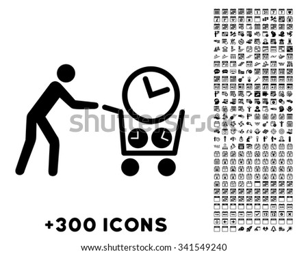 clock shopping vector pictogram