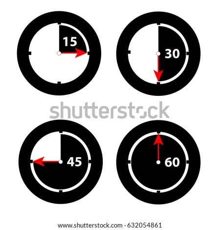 clock showing minutes on white
