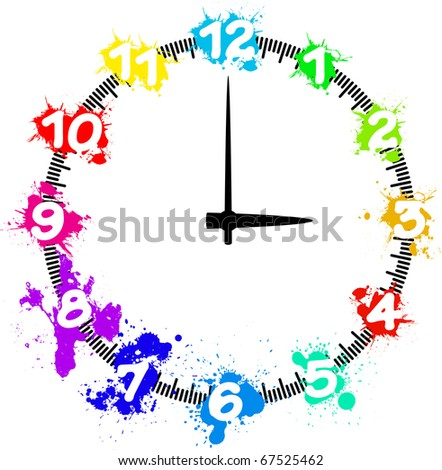 clock splashes