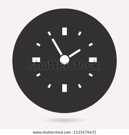 Clock time icon, deadline symbol. Vector illustration isolated. Simple pictogram for graphic and web design.