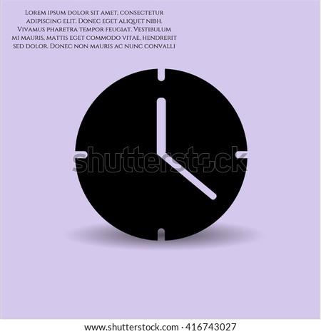 Clock Time icon vector symbol flat eps jpg app web