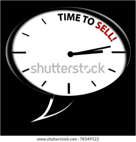 "Clock ""Time to sell"""