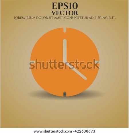 Clock (Time) vector icon
