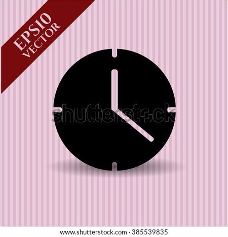 Clock (Time) vector icon or symbol