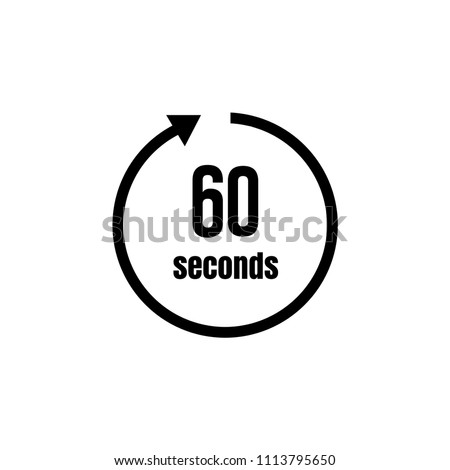 Clock , timer (time passage) icon / 60 seconds