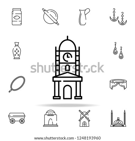clock tower, faisalabad landmark icon. pakistan culture and landmarks icons universal set for web and mobile