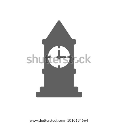 Clock tower icon in trendy flat style isolated on white background. Symbol for your web site design, logo, app, UI. Vector illustration, EPS