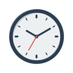 clock vector flat illustration isolated on white background