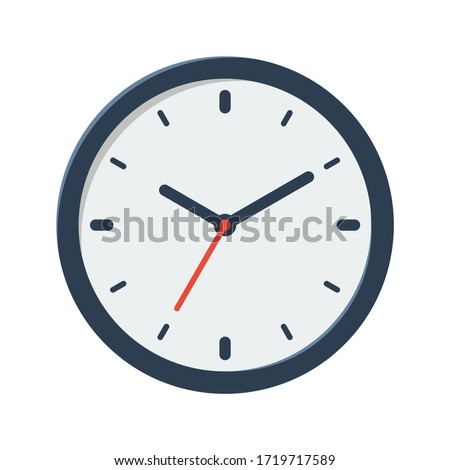 clock vector flat illustration isolated on white background
