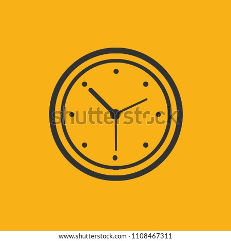 Clock vector icon design
