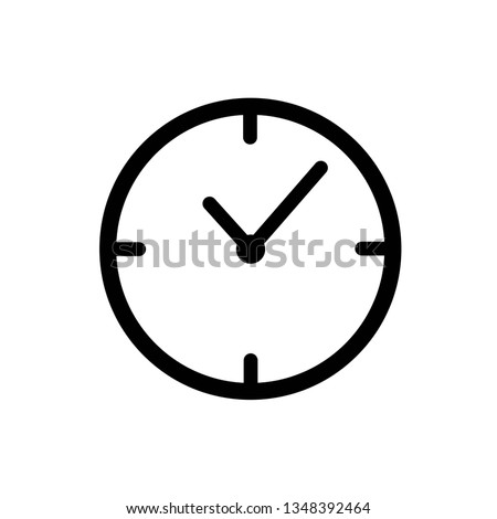 clock vector icon in trendy flat style