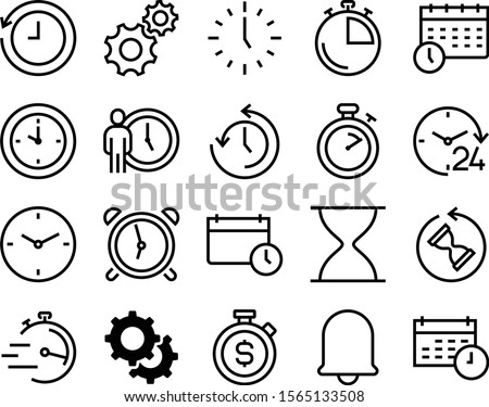 clock vector icon set such as: mute, history, online, businessman, doorbell, badge, push, year, holiday, center, payment, standing, signal, number, timely, art, action, investment, process, manager