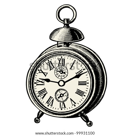 Clock - vintage engraved illustration - Catalog of a French department store - Paris 1909